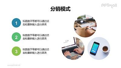 3张图片+3个要点列表PPT排版版式模板下载