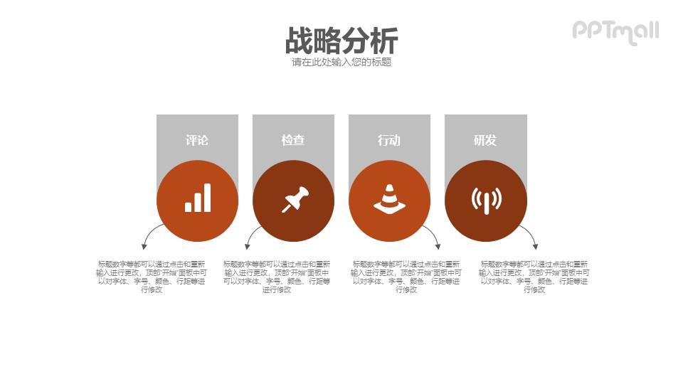 战略分析PPT模板素材下载