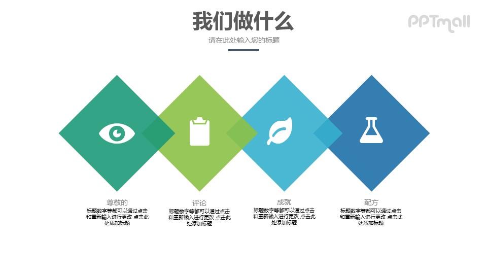 企业服务范围PPT模板素材下载