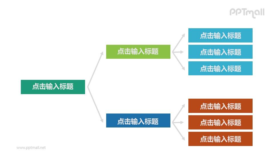 3层级组织架构PPT素材下载