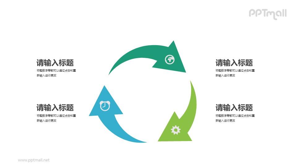 循环利用/3个循环的箭头PPT素材下载