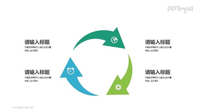 循环利用PPT模板下载