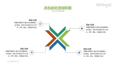 X的四个维度PPT素材下载