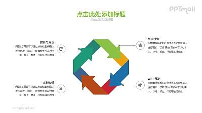 循环的正方形PPT素材下载