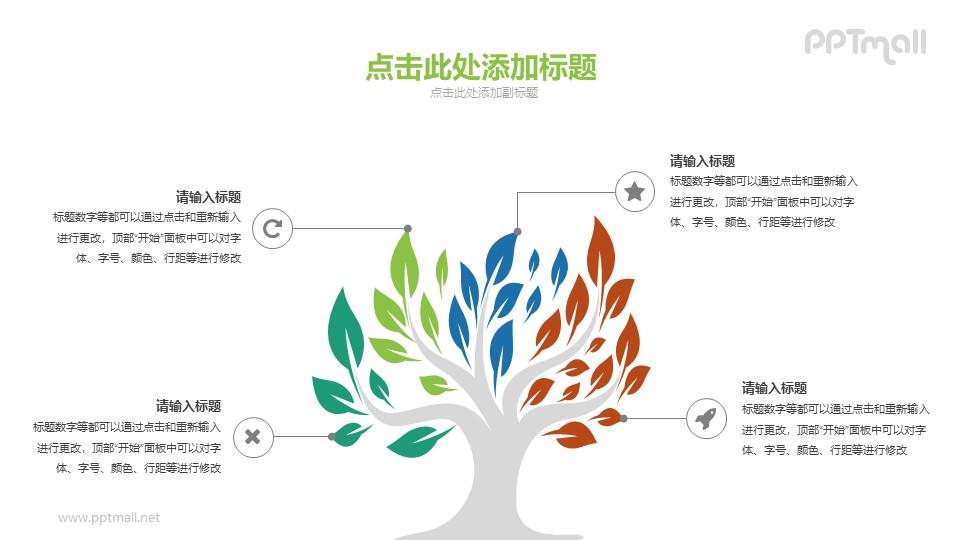 大树PPT图示素材下载