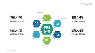 六部分蜂窝结构的总分关系PPT素材下载