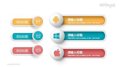 苹果安卓windows系统对比分析PPT素材下载