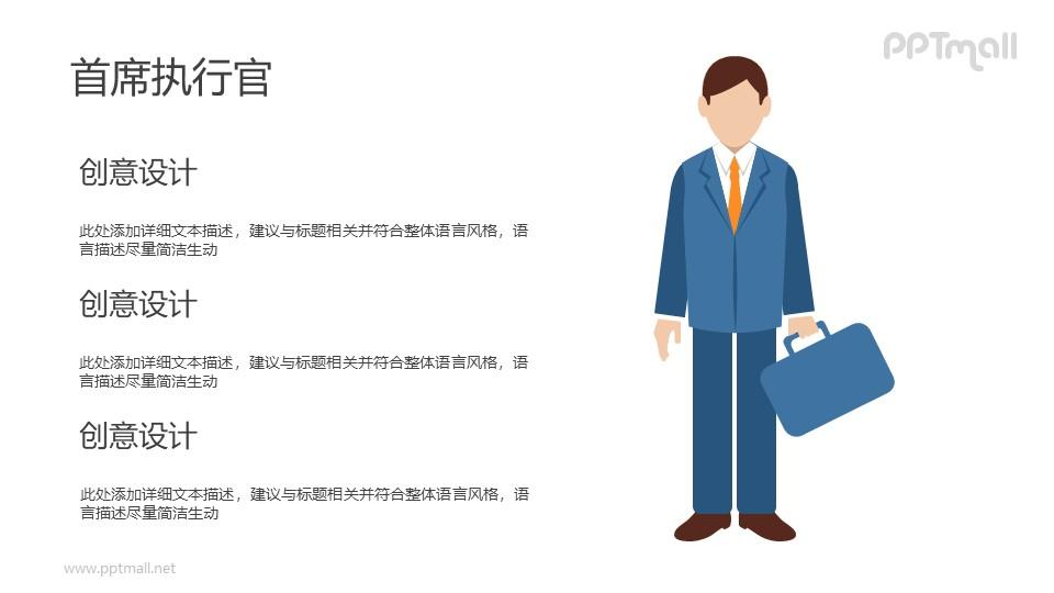 首席执行官/提着公文包的商务人士PPT素材下载