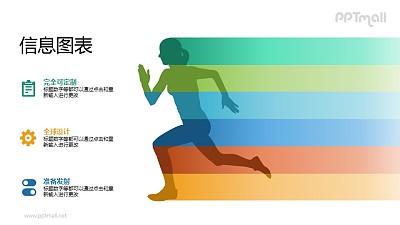 奔跑的女性/女运动员PPT矢量图片素材下载