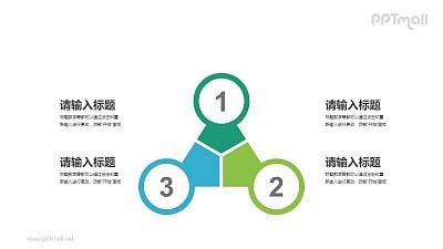 3部分并列关系PPT素材下载
