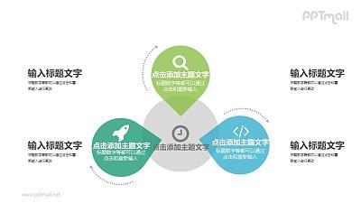 3部分并列关系PPT图示素材下载