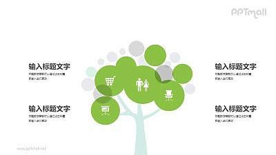 企业之树/家庭之树PPT图示素材下载