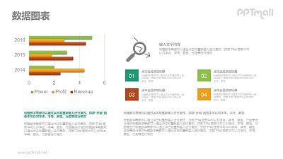 三组条形图排版PPT素材下载