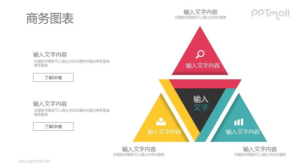 三角形总分结构PPT图示素材下载