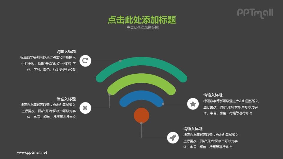 超大的wifi信号PPT图示素材下载_幻灯片预览图2