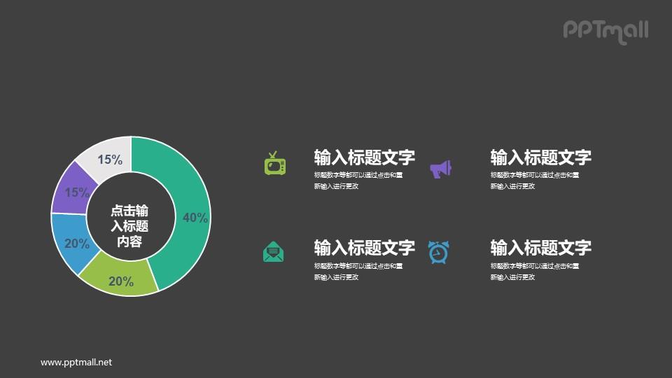 圆环图/饼图PPT素材下载