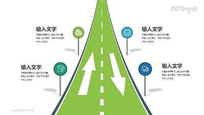 高速公路广告牌PPT图示素材下载