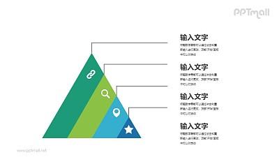 金字塔状各层级分析PPT图示素材下载