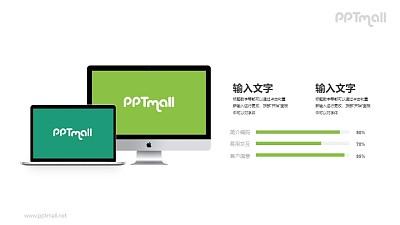 台式电脑+笔记本电脑样机展示PPT素材下载