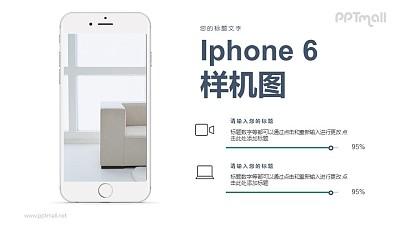 iphone6手机样机图PPT模板下载