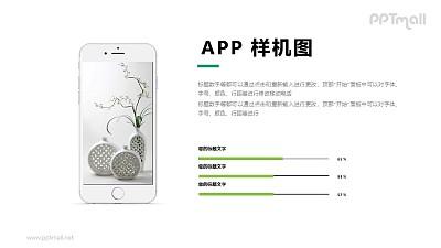 APP样机图(iphone设备)PPT模板下载