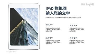 iPad屏幕显示样机图PPT模板下载