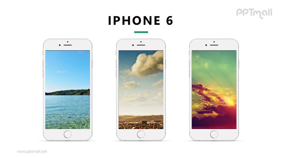 3台iphone展示样机图PPT模板下载_幻灯片预览图1