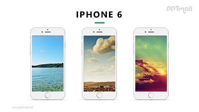 3台iphone展示样机图PPT模板下载