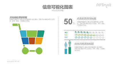 购物/目标人群分析PPT图示素材下载