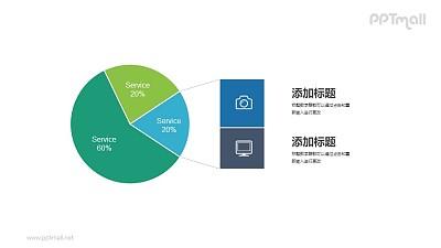 饼图数据分析PPT图表素材模板下载