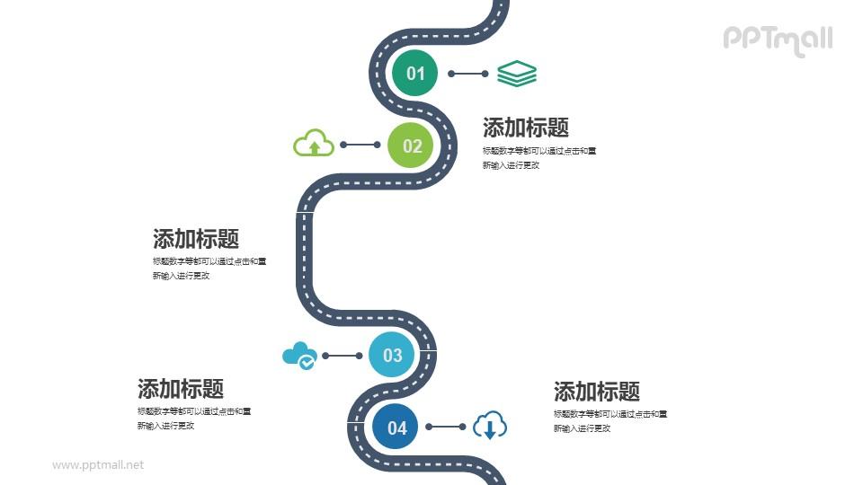 学习路径图PPT模板下载