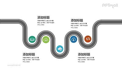 物流配送时间和地点信息PPT图示素材模板下载