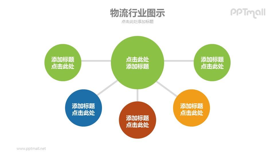 1-5总分关系示意图PPT模板下载