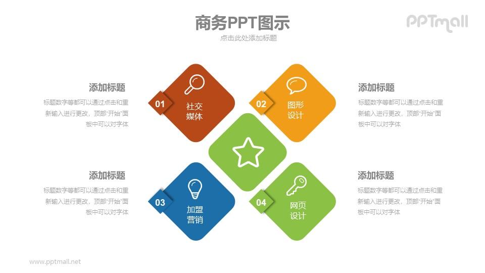 并列关系的商务图示PPT模板下载