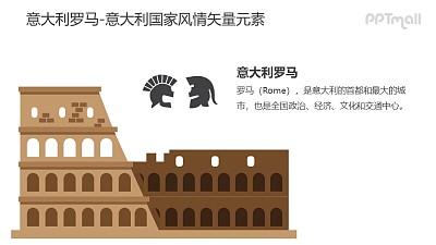 意大利罗马建筑-意大利国家风情PPT图像素材下载