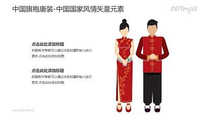 旗袍/唐装-中国国家风情PPT图像素材下载