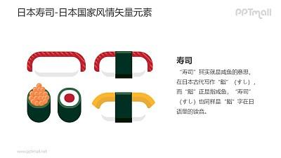 饭团寿司-日本国家风情PPT图像素材下载