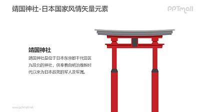 靖国神社-日本国家风情PPT图像素材下载