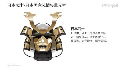 日本武士-日本国家风情PPT图像素材下载