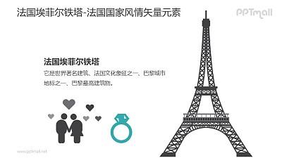 埃菲尔铁塔-法国国家风情PPT图像素材下载