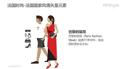 巴黎时装周/法国时尚-法国国家风情PPT图像素材下载