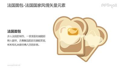 法国面包-法国国家风情PPT图像素材下载