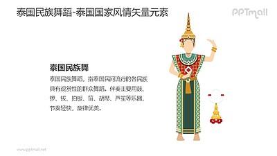 泰国民族舞蹈-泰国国家风情PPT图像素材下载
