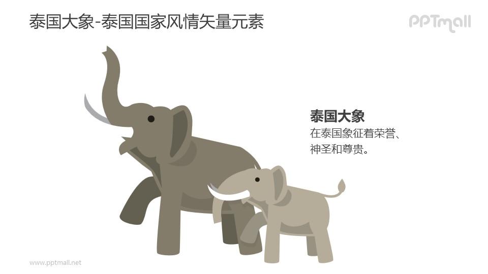 泰国大象-泰国国家风情PPT图像素材下载