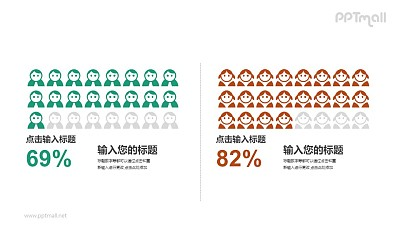 男女性别比列对比PPT素材模板下载