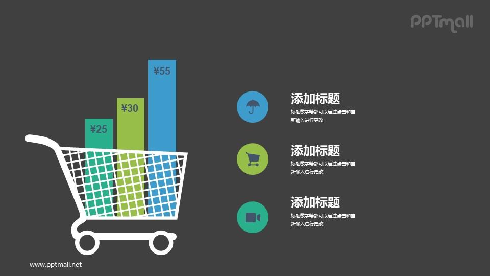 购物大数据分析PPT图表图示模板下载_幻灯片预览图2