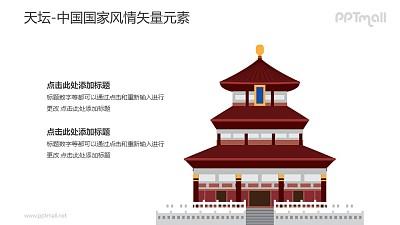 天坛-中国国家风情PPT图像素材下载