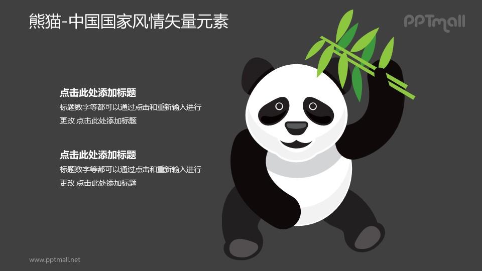 大熊猫-中国国家风情PPT图像素材下载