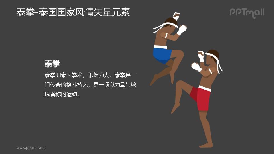 泰拳-泰国国家风情PPT图像素材下载