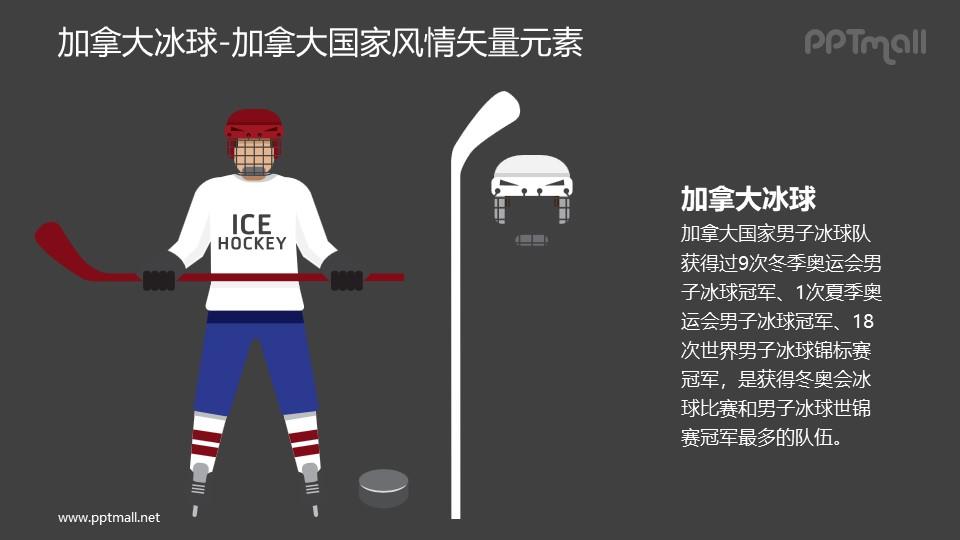 冰球-加拿大国家风情PPT图像素材下载
